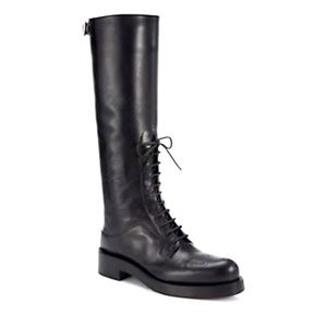 Prada Oxford knee height Leather boots